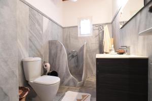 A bathroom at Tinos Sky View Villa