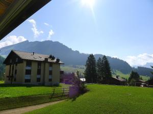 Ein Garten an der Unterkunft Apartment Parkhotel Arvenbühl.3