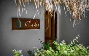A certificate, award, sign or other document on display at Phandara Luxury Pool Villas