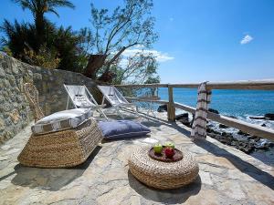 A patio or other outdoor area at Pelagaios Villas