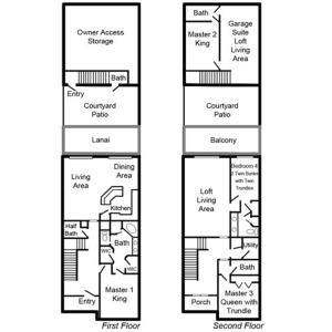 The floor plan of Orlando Family Friendly Home