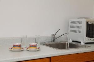 A kitchen or kitchenette at Premedinos inn