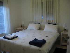 A bed or beds in a room at Lovely home above the Kinneret