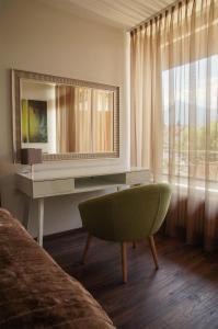 Ein Sitzbereich in der Unterkunft Apartment Untersbergblick