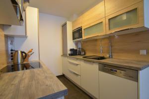 A kitchen or kitchenette at Donau-City Strasse 12 Apartment.