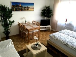 Posezení v ubytování Arcaden Apartment