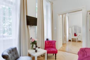 A seating area at Prague Siesta Apartments
