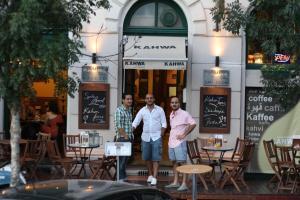 Restaurant ou autre lieu de restauration dans l'établissement Kahwa Apartments