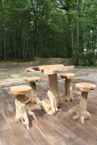 Terrasse ou espace extérieur de l'établissement L'isba des bois, hors du temps