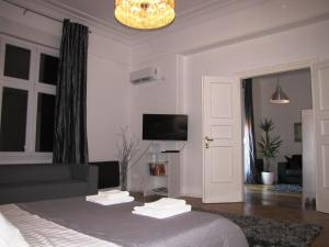 A television and/or entertainment center at SILVER Apartment