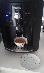 Coffee and tea-making facilities at Ferienhaus Barbara Boeck