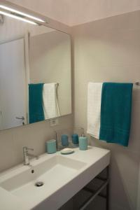 Ett badrum på Artist's suite