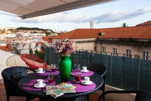 A porch or other outdoor area at Terrace View in Chiado