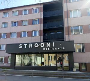 Majutusasutuse Stroomi Residents Apartments fassaad või sissepääs