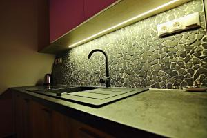 A kitchen or kitchenette at Apartment Luna