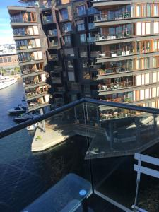 A view of the pool at modern 1 bedroom with balcony and view or nearby