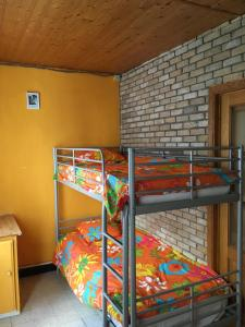 A bunk bed or bunk beds in a room at MBlankenberge