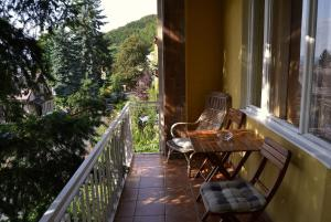 A balcony or terrace at Vila Daniela
