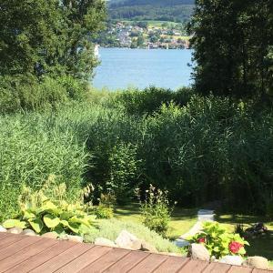 Ein Garten an der Unterkunft Ein Traum direkt am See