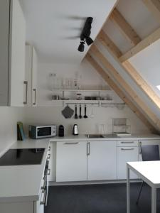 A kitchen or kitchenette at Apartment Adlerhorst