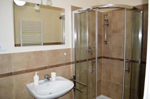 A bathroom at Valentina Apartments