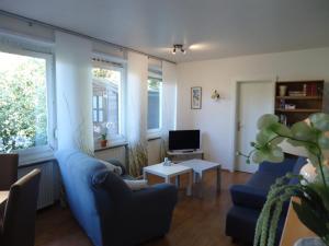 Ein Sitzbereich in der Unterkunft Haus am Burgberg
