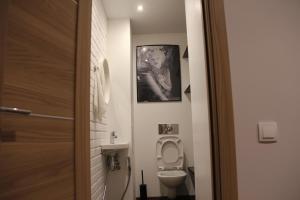 A bathroom at Max apartment at Varshavskaya 6