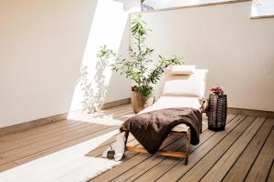 Ein Bett oder Betten in einem Zimmer der Unterkunft Ferienwohnung Schmetterling