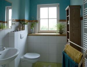 Ein Badezimmer in der Unterkunft Landgut Jungbrunnen