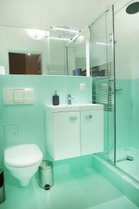 Vonios kambarys apgyvendinimo įstaigoje Apartament Milena