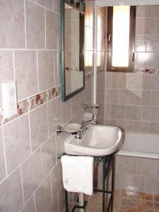A bathroom at Cabañas Marias del Sur
