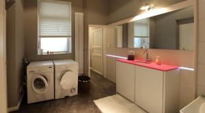 Ein Badezimmer in der Unterkunft quartier kiel