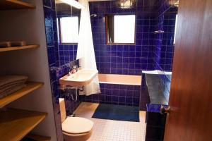 A bathroom at Cozy 60's villa in Reykjavik