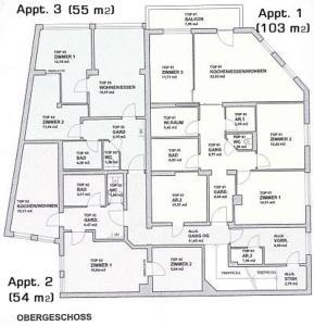 Grundriss der Unterkunft Appartement Feinsinn