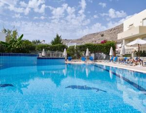 The swimming pool at or close to Lindos Athena