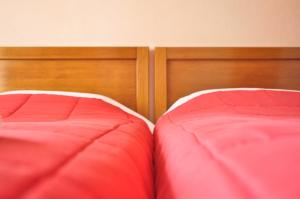 Ein Bett oder Betten in einem Zimmer der Unterkunft Hotel Limni