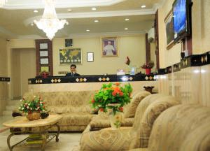 The lounge or bar area at Gulf Hotel Apartment