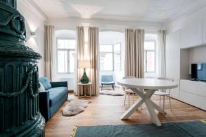 A seating area at Laubenhaus