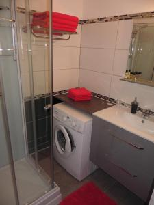 A bathroom at Briget Apartment