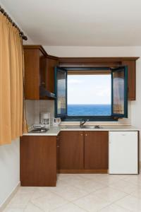 A kitchen or kitchenette at Archipelagos Apartments