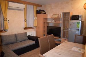 The lounge or bar area at Apartment Borovnica