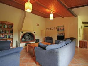 A seating area at Calm Holiday Home with Swimming Pool in Carces France