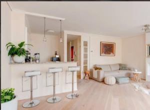 A seating area at Beautiful Seaview Appartment at Scheveningen Beach!