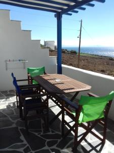 A balcony or terrace at Kyklades