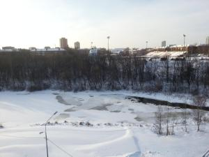 MS Apartments Khimki on Leninsky Prospekt during the winter