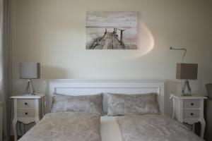Ein Bett oder Betten in einem Zimmer der Unterkunft Bebelstr. 67