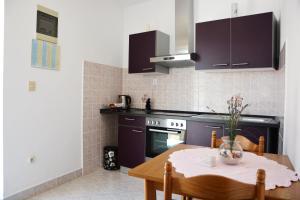 A kitchen or kitchenette at Apartments Mladinić