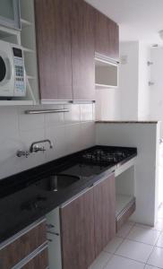 Een keuken of kitchenette bij Apartamento Jardim Bavieira