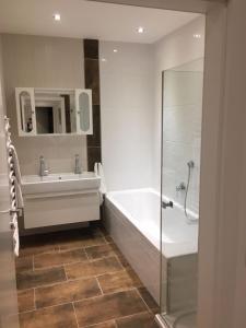 Ein Badezimmer in der Unterkunft Appartement Feinsinn