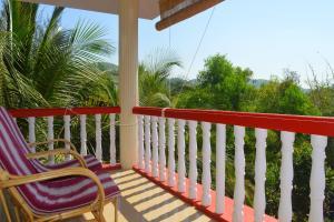 A balcony or terrace at Namaste Yoga Farm